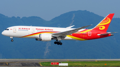 A picture of B2738 - Boeing 7878 Dreamliner - Hainan Airlines - © Mr.Huang
