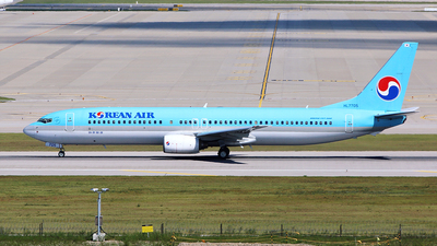 A picture of HL7705 - Boeing 7379B5 - Korean Air - © REDSOX
