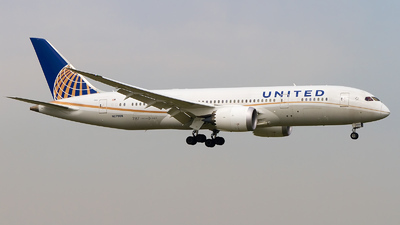 N27908 - Boeing 787-8 Dreamliner - United Airlines