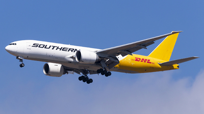 A picture of N714SA - Boeing 777FZB - DHL - © Fuxin Ma