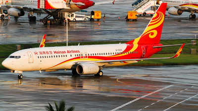 A picture of B5620 - Boeing 73784P - Hainan Airlines - © w9r