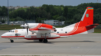 33 bk - Antonov An-32P - Ukraine - Ministry of Emergency Situations