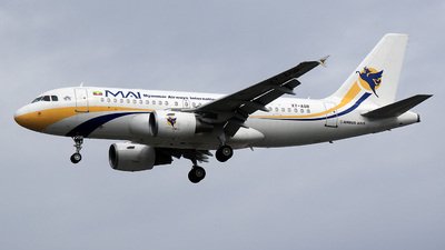 XY-AGR - Airbus A319-112 - Myanmar Airways International (MAI)