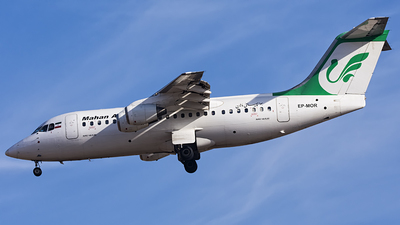 EP-MOR - British Aerospace Avro RJ85 - Mahan Air