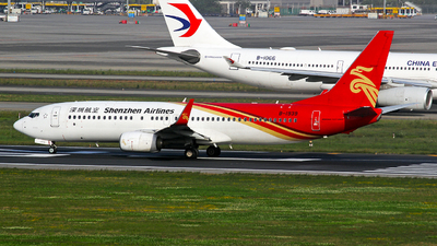 A picture of B1939 - Boeing 73787L - Shenzhen Airlines - © YuPeng Liu