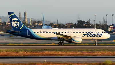 A picture of N855VA - Airbus A320214 - Alaska Airlines - © Rocky Wang
