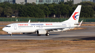 A picture of B6147 - Boeing 73789P - China Eastern Airlines - © Jack  Li