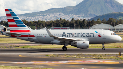 A picture of N8001N - Airbus A319115 - American Airlines - © Miguel Fiesco (MMMX Spotter)