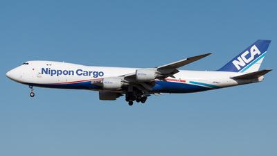 A picture of JA14KZ - Boeing 7478KZ(F) - Nippon Cargo Airlines - © Yoshio Yamagishi