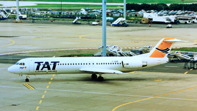 F-GIOF - Fokker 100 - TAT European Airlines