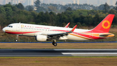 A picture of B8342 - Airbus A320214 - Chengdu Airlines - © F3E1988