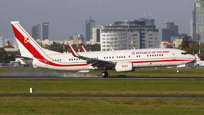 0111 - Boeing 737-8TV - Poland - Air Force