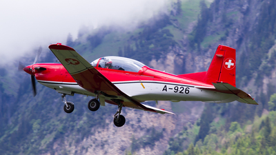 A-926 - Pilatus PC-7 - Switzerland - Air Force