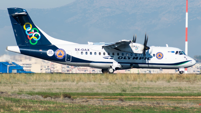 A picture of SXOAX - ATR 42600 - Olympic Air - © John Leivaditis