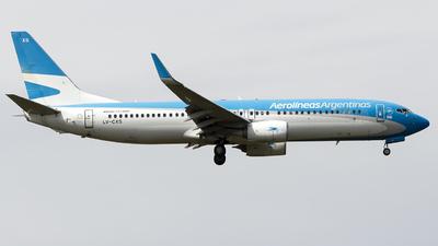 A picture of LVCXS - Boeing 73781D - Aerolineas Argentinas - © Gabriel Gomez