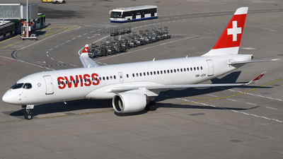 A picture of HBJCH - Airbus A220300 - Swiss - © Mathias Moeri