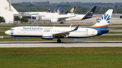 A picture of TCSPA - Boeing 7378HX - SunExpress - © Michael Stempfle