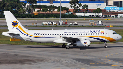 LZ-BHG - Airbus A320-232 - Myanmar Airways International (BH Air)