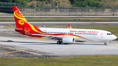 A picture of B5346 - Boeing 7378BK - Hainan Airlines - © KMG_Xiaokang2020