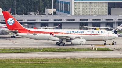 A picture of B8332 - Airbus A330243 - Sichuan Airlines - © Patrick-ZHOU