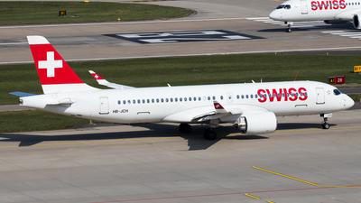A picture of HBJCH - Airbus A220300 - Swiss - © Melanie Niedermeier