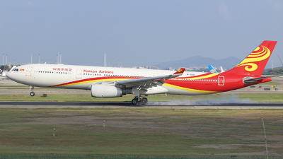A picture of B1021 - Airbus A330343 - Hainan Airlines - © CrazyChan