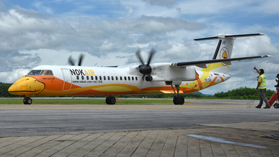 A picture of HSDQG - De Havilland Canada Dash 8400 - Nok Air - © Ratchapon Pipitsombat