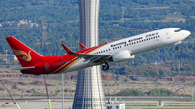 A picture of B1107 - Boeing 7378LY - Kunming Airlines - © guweishi