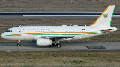 F-WBGX - Airbus A319-133(CJ) - Ivory Coast - Air Force