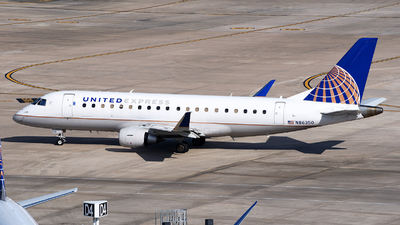 A picture of N86350 - Embraer E175LR - United Airlines - © Rocky Wang