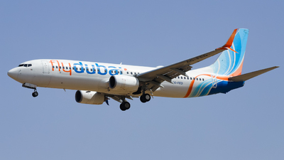 A picture of A6FED - Boeing 7378KN - FlyDubai - © Shajie Hussain