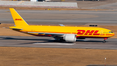 A picture of DAALL - Boeing 777F - DHL - © Ka Hung Yue