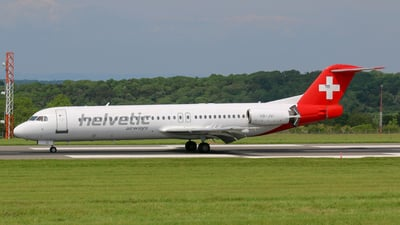 HB-JVI - Fokker 100 - Helvetic Airways