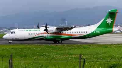 A picture of B17015 - ATR 72600 - UNI Air - © jasonhuang626