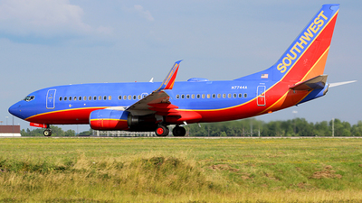A picture of N7744A - Boeing 7377BD - Southwest Airlines - © Chrisjake