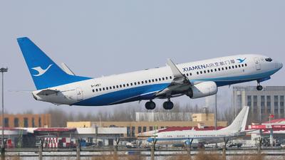 A picture of B1457 - Boeing 73785C - Xiamen Air - © Liu Zhanxu