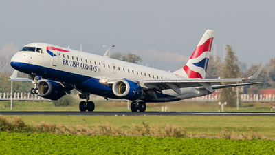 A picture of GLCYJ - Embraer E190SR - British Airways - © Kees Marijs