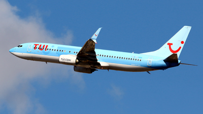 A picture of SERFX - Boeing 7378K5 - TUI fly - © Javier Rodriguez - Amics de Son Sant Joan