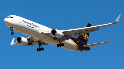 A picture of N322UP - Boeing 76734AF(ER) - UPS Airlines - © CJMoeser
