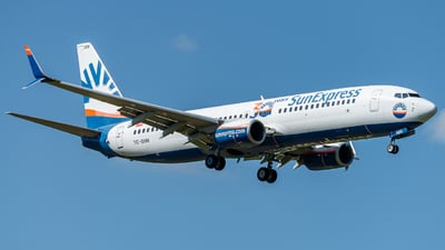 A picture of TCSNN - Boeing 7378HC - SunExpress - © Thierry Weber