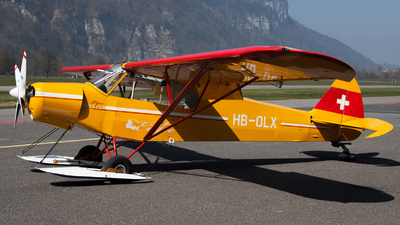 HB-OLX - Piper PA-18-180M Super Cub - Private