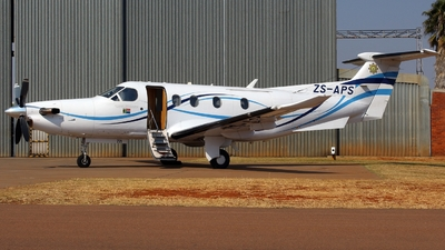 ZS-APS - Pilatus PC-12/47 - South Africa - Police
