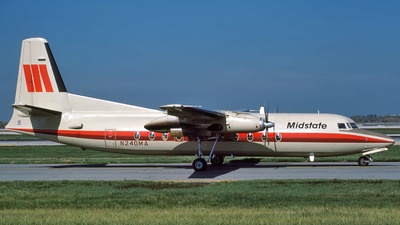 N240MA - Fokker F27-500 Friendship - Midstate Airlines