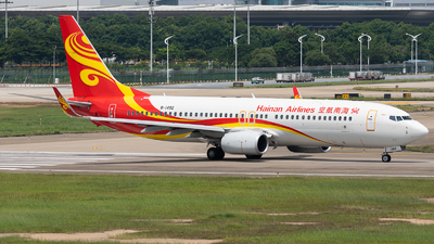 A picture of B1492 - Boeing 73786N - Hainan Airlines - © ZGGG RWY01