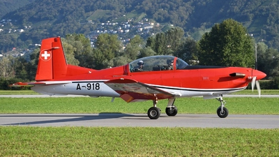A-918 - Pilatus PC-7 - Switzerland - Air Force