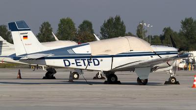 D-ETFD - Beechcraft F33A Bonanza - Private