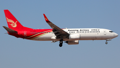 A picture of B1108 - Boeing 7378LY - Kunming Airlines - © Wanping Chen