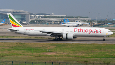 A picture of ETASK - Boeing 777360(ER) - Ethiopian Airlines - © songxiuming