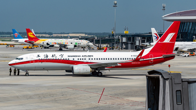 A picture of B5523 - Boeing 73786D - Shanghai Airlines - © BigheadL