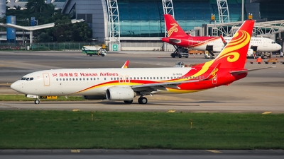 A picture of B1490 - Boeing 73784P - Hainan Airlines - © Lywings